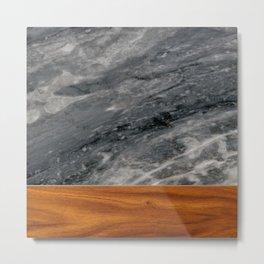 Marble and Wood 3 Metal Print