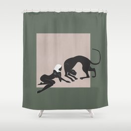 Panther Woman Shower Curtain