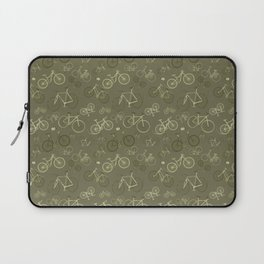 I love bikes in army green Laptop Sleeve