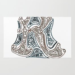 "26. Henna Letters of the Alphabet "" K "" Rug"
