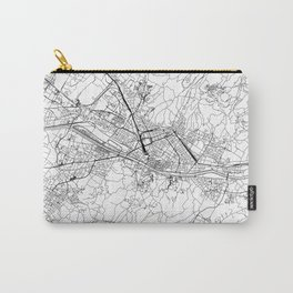 Florence White Map Carry-All Pouch