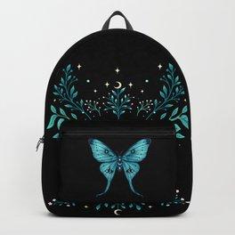 Mystical Luna Moth - Turquoise Backpack
