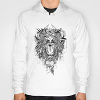 decal Hoodies featuring Lion by Feline Zegers