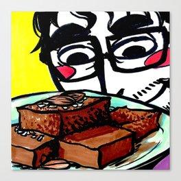Almond Brownies Canvas Print
