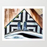 Graphic rug Art Print