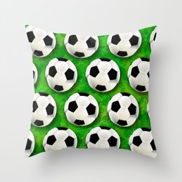 Soccer Ball Football Pattern Throw Pillow