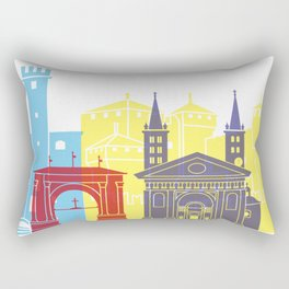 Aosta skyline pop Rectangular Pillow