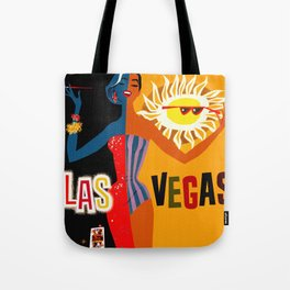 Vintage Las Vegas Travel Poster Tote Bag