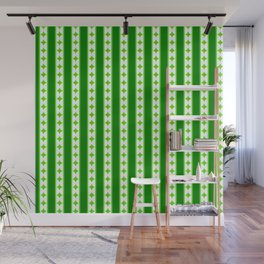 Stripes and diamonds pattern Wall Mural