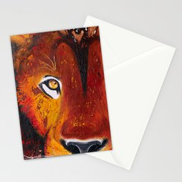 Lion - Wild and free - by LiliFlore Stationery Cards