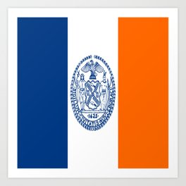 flag new york city,america,us,statue of liberty,big apple, New Yorker,Albany,Broadway,Manhattan,Bron Art Print