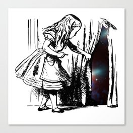 Alice Discovers the Universe Canvas Print