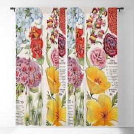 Iowa Seed Co vintage flowers Blackout Curtain