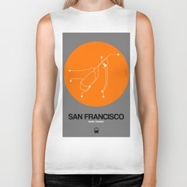 San Francisco Orange Subway Map Biker Tank