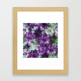Violets and Greens Framed Art Print