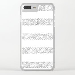 Stripes of antique rustic lace Clear iPhone Case