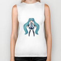 vocaloid Biker Tanks featuring Digital Song by Nozubozu