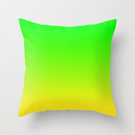 CHAMELEON GREEN & YELLOW Neon color ombre pattern  Throw Pillow