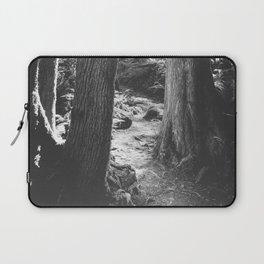Forest Wonderland - Black and White Nature Photography Laptop Sleeve