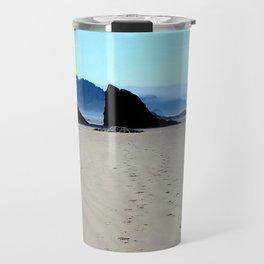 Footpirnts In The Sand Travel Mug