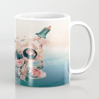 cock Mugs featuring Watermelon&Black cock by Tanya_tk