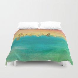 Peace, Ocean Sunset 3 Duvet Cover