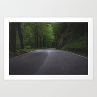 Italian country road Art Print