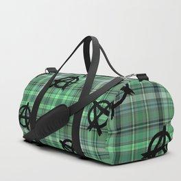 green  plaid anarchy Duffle Bag