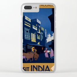 Vintage poster - India Clear iPhone Case
