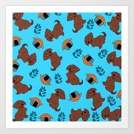 Cute Puppy Pattern Art Print