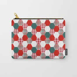 Christmas quilt red and green cute gifts home decor for the holidays Carry-All Pouch