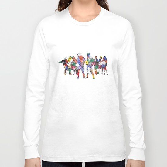 It is not the size of a person but the size of the heart that matters :) Long Sleeve T-shirt