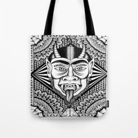devil Tote Bags featuring Devil by Cady Bogart