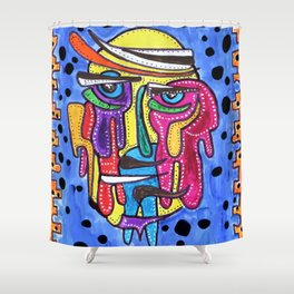 Facial Recogniton Shower Curtain
