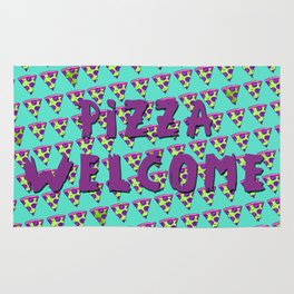 GOOPY GREEN PIZZA Rug