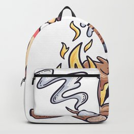 Campfire Girls Scouts grilling gift Backpack