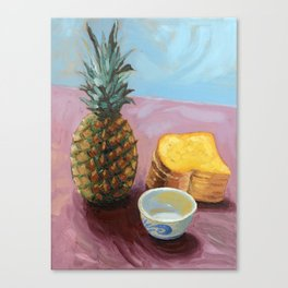 Pineapple in paint Canvas Print