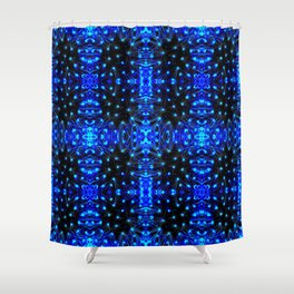 Sparkling Blue Turquoise Pattern Shower Curtain