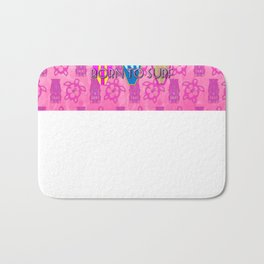Pink Born To Surf Pink Tiki Bath Mat