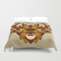 reindeer Duvet Covers featuring REINDEER by Sky-blitz