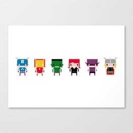 Pixel Avengers Canvas Print