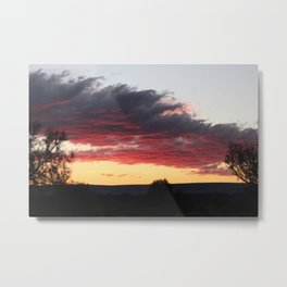 Outback Sunset Metal Print