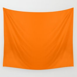 Bright Neon Orange Russet 2018 Fall Winter Color Trends Wall Tapestry