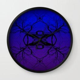 Purple Tree Haze Wall Clock