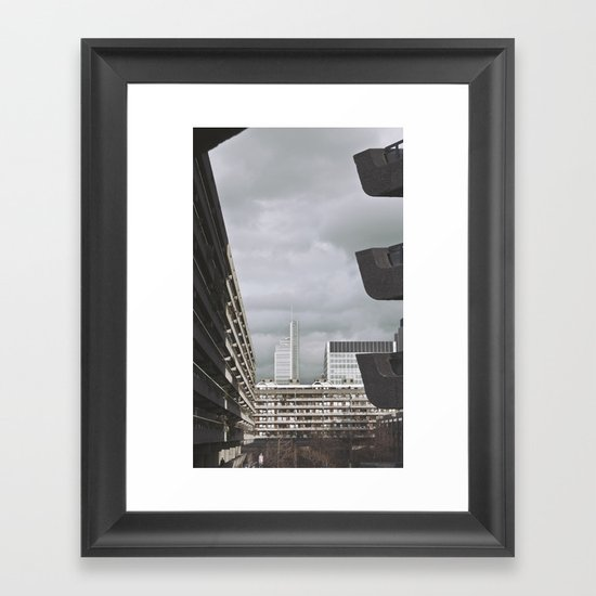 with the sun on my back, it's a nice day... Framed Art Print