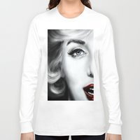 marilyn Long Sleeve T-shirts featuring Marilyn  by Lily Fitch