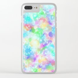 Rainbow Bubbles, Shining Stars and Color Magic Clear iPhone Case