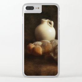 Stil life - Ceramic Wine Pot and Bread Clear iPhone Case