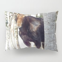 Molting Moose in Spring Pillow Sham