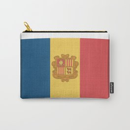Flag of Andorra, officially the Principality of Andorra. Carry-All Pouch